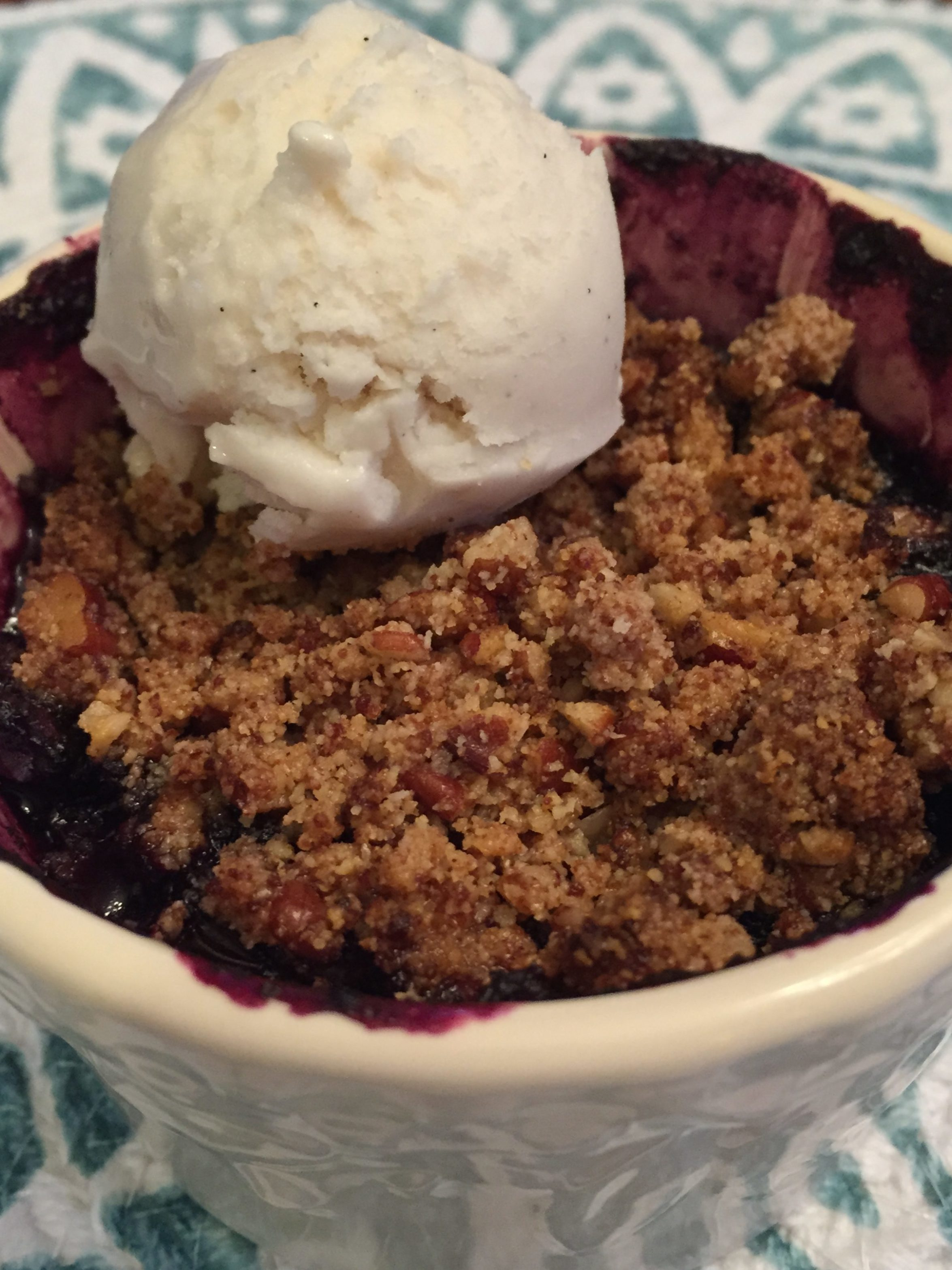 Grain Free Blueberry Crisp
